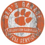 Clemson Tigers Dad's Garage Sign