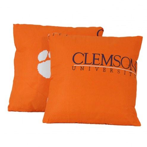 Clemson Tigers Decorative Pillow Set