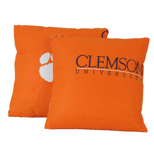 Clemson Tigers Decorative Pillow Set