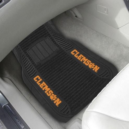 Clemson Tigers Deluxe Car Floor Mat Set