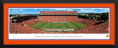 Clemson Tigers Deluxe Framed Panorama