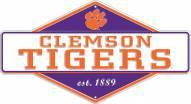 Clemson Tigers Diamond Panel Metal Sign