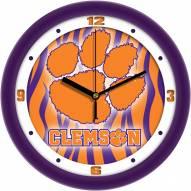 Clemson Tigers Dimension Wall Clock