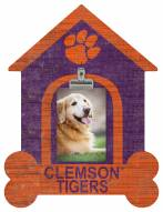 Clemson Tigers Dog Bone House Clip Frame