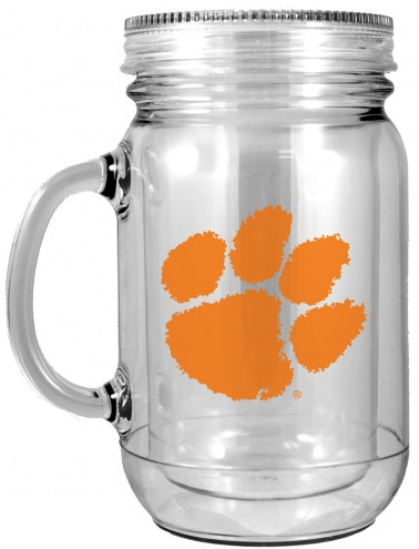 Clemson Tigers Double Walled Mason Jar