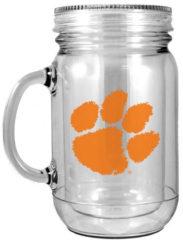 Clemson Tigers Double Walled Mason Jar