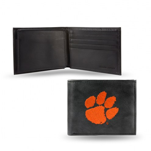 Clemson Tigers Embroidered Leather Billfold Wallet