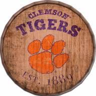 """Clemson Tigers Established Date 24"""" Barrel Top"""