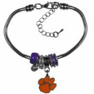 Clemson Tigers Euro Bead Bracelet