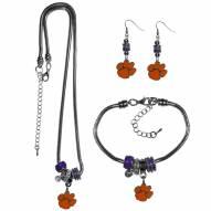 Clemson Tigers Euro Bead Jewelry 3 Piece Set