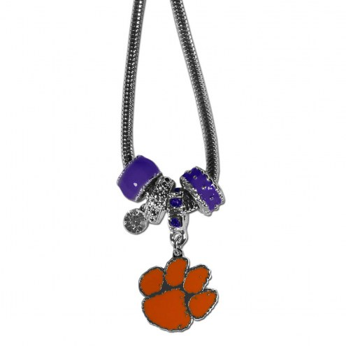 Clemson Tigers Euro Bead Necklace