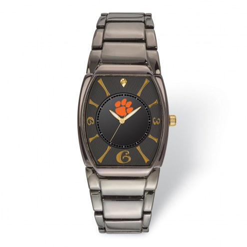 Clemson Tigers Executive Black Plated Watch