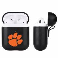 Clemson Tigers Fan Brander Apple Air Pods Leather Case