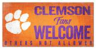 Clemson Tigers Fans Welcome Sign