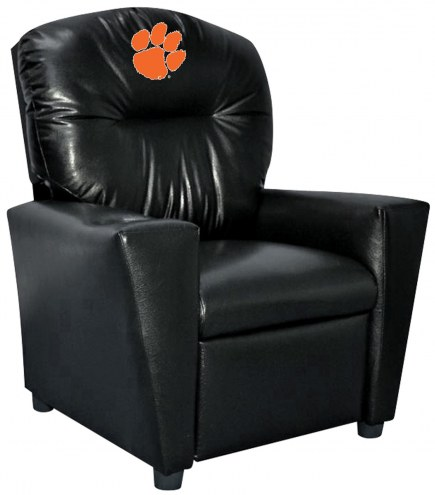 Clemson Tigers Faux Leather Kid's Recliner