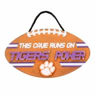 Clemson Tigers Football Power Wood Sign