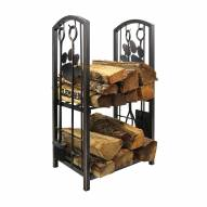 Clemson Tigers Fireplace Wood Holder & Tool Set