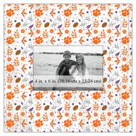 """Clemson Tigers Floral Pattern 10"""" x 10"""" Picture Frame"""