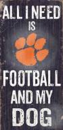Clemson Tigers Football & Dog Wood Sign