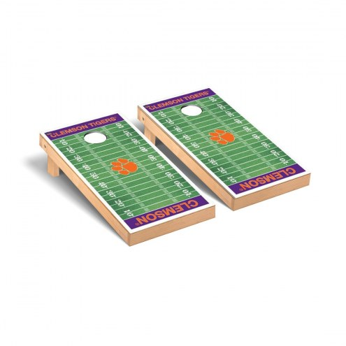 Clemson Tigers Football Field Cornhole Game Set