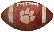Clemson Tigers Football Shaped Sign