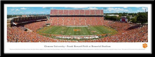 Clemson Tigers Framed Stadium Print