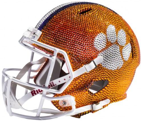 Clemson Tigers Full Size Swarovski Crystal Football Helmet