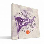 Clemson Tigers Gameday Vibes Canvas Print