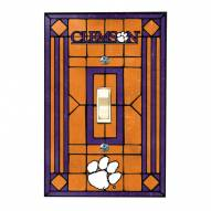 Clemson Tigers Glass Single Light Switch Plate Cover