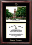 Clemson Tigers Gold Embossed Diploma Frame with Lithograph