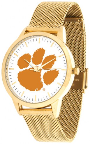 Clemson Tigers Gold Mesh Statement Watch