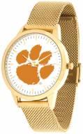 Clemson Tigers Gold Mesh Statement Watch