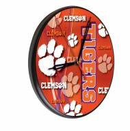Clemson Tigers Digitally Printed Wood Clock