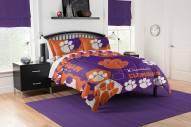 Clemson Tigers Hexagon Full/Queen Comforter & Shams Set