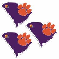 Clemson Tigers Home State Decal - 3 Pack