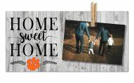 Clemson Tigers Home Sweet Home Clothespin Frame