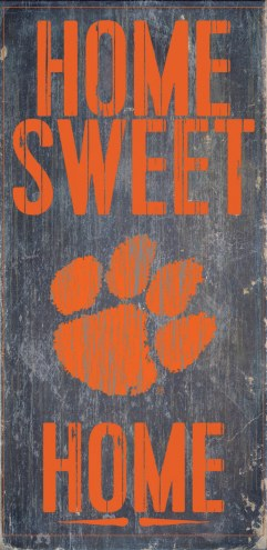 Clemson Tigers Home Sweet Home Wood Sign