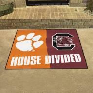 Clemson Tigers/South Carolina Gamecocks House Divided Mat