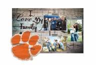 Clemson Tigers I Love My Family Clip Frame