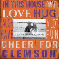 """Clemson Tigers In This House 10"""" x 10"""" Picture Frame"""