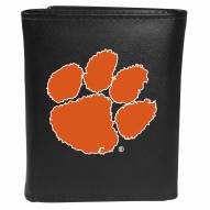 Clemson Tigers Large Logo Leather Tri-fold Wallet