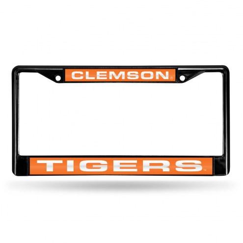 Clemson Tigers Laser Black License Plate Frame