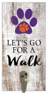 Clemson Tigers Leash Holder Sign