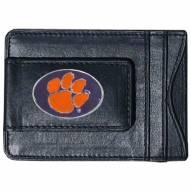 Clemson Tigers Leather Cash & Cardholder