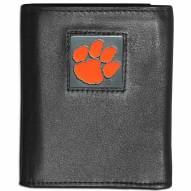 Clemson Tigers Leather Tri-fold Wallet