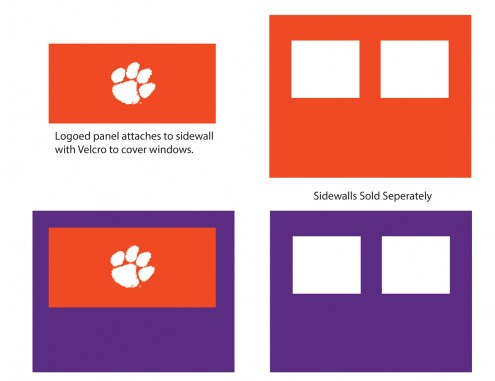 Clemson Tigers Logo Canopy Sidewall Panel (Attaches to Window Sidewall)