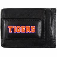 Clemson Tigers Logo Leather Cash and Cardholder