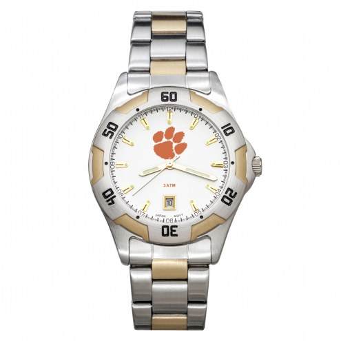 Clemson Tigers Men's All-Pro Two-Tone Watch