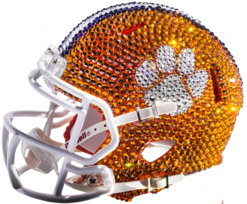 Clemson Tigers Mini Swarovski Crystal Football Helmet