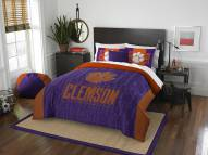 Clemson Tigers Modern Take Full/Queen Comforter Set